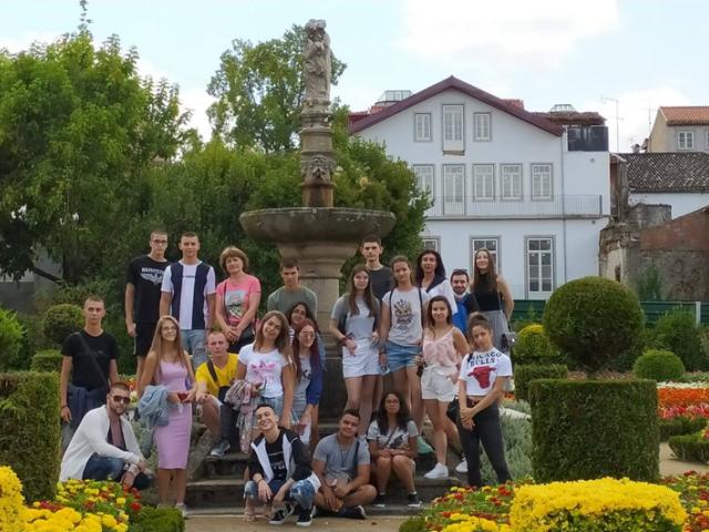 """Ученици от ПГХТ """"Акад. Неделчо Неделчев"""" на стаж в Португалия"""